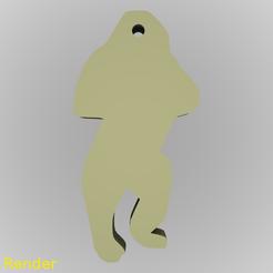 Free 3d printer files Gorilla Silhouette Key Chain, GadgetPrint