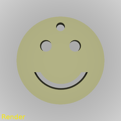Download free STL files Smiley Emoji Happy Silhouette Key Chain, GadgetPrint