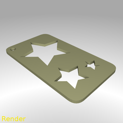 stencil-star-001-render.png Download STL file Star Shape Draw Paint Stencil • 3D printable model, GadgetPrint
