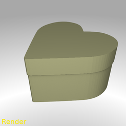 Download free 3D model Heart Shaped Box - Small, GadgetPrint