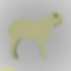 Download free 3D printing models Lamb Silhouette Key Chain, GadgetPrint