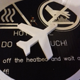 keychain-airplane-001-photo-1.png Download free STL file Airplane Silhouette Key Chain • 3D print template, GadgetPrint