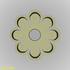 Fichier impression 3D gratuit Porte-clés Flower Silhouette porte-clés, GadgetPrint