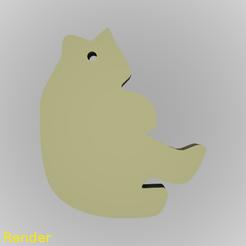 Free 3d printer files Bear Silhouette Key Chain, GadgetPrint