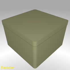 Download free 3D printing templates Square Shaped Box Rounded - Large, GadgetPrint