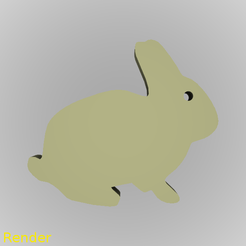 Free 3D printer model Bunny Rabbit Silhouette Key Chain, GadgetPrint