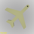 keychain-airplane-001-render-1.png Download free STL file Airplane Silhouette Key Chain • 3D print template, GadgetPrint