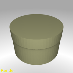 Download free 3D print files Round Shaped Box - Small, GadgetPrint