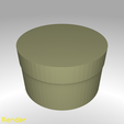 box-round-s-001-render.png Download free STL file Round Shaped Box - Small • 3D printing template, GadgetPrint