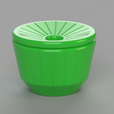 ribbed_assembled.PNG Download free STL file Simple, Countertop Fly Trap • Object to 3D print, FORGE