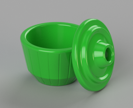 ribbed_open.PNG Download free STL file Simple, Countertop Fly Trap • Object to 3D print, FORGE