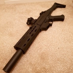 20180516_232740 EDIT.jpg Download STL file Airsoft Scorpion Evo - SD Handguard • 3D printing object, Access_Airsoft