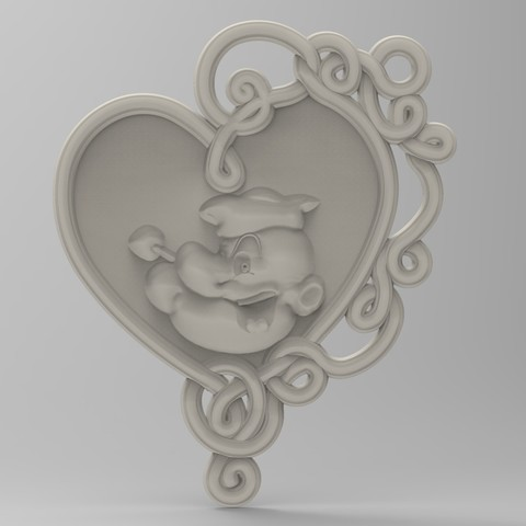 untitled.66.jpg Download STL file popeye panno • 3D print template, Mooos