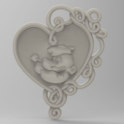 3D print files popeye panno, Mooos