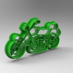 untitled.535.jpg Download STL file chopper motorbike cookie cutter • 3D printable object, Mooos