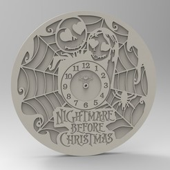 Download 3D printing templates clock of nightmare, Mooos