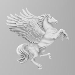 pegaaa.485.jpg Download STL file pegasus winged horse • 3D printing design, Mooos