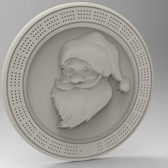 3D print model christmas cribbage board, Mooos