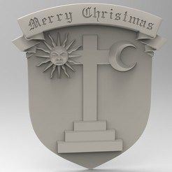 3D print model merry christmas, Mooos