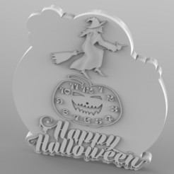 Download STL files halloween clock, Mooos