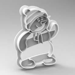 Download 3D printer templates christmas cookie cutter, Mooos