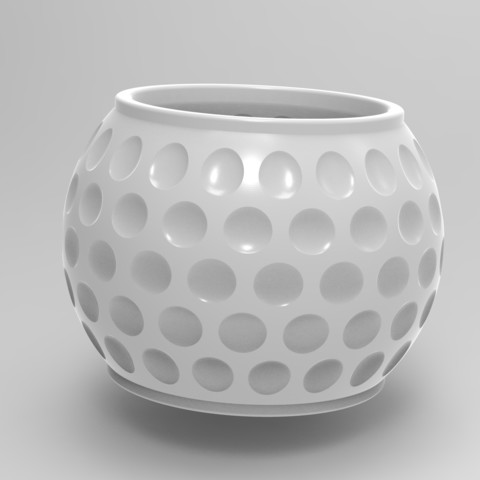 Download 3D printing templates golf planter, Mooos