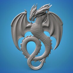 ddddrogg.679.jpg Download STL file fantasy medieval twin dragon • 3D printable object, Mooos