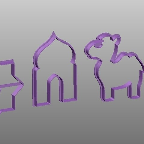 Download 3D model oriental cookie cutters, Mooos