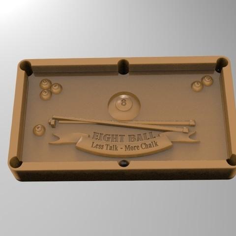 8pool.47.jpg Download STL file 8 ball pool • 3D printable template, Mooos
