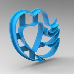 Download STL files heart cookie cutter, Mooos