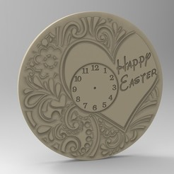 Download 3D printing templates easter clock, Mooos