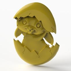 bunnyyy.531.jpg Download STL file easter bunny egg • 3D printer template, Mooos