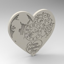 STL valentine clock, Mooos