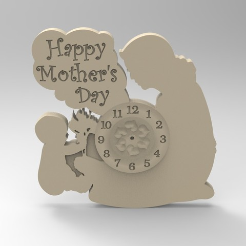 Download 3D printer files mother clock 1, Mooos
