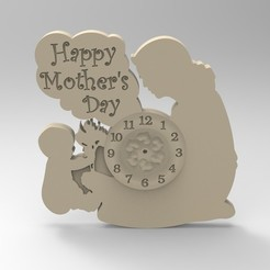 Download 3D printer files mother clock 1, Mooos