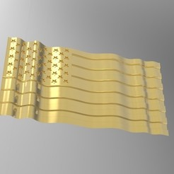 Modelos 3D para imprimir bandera ondulada americana, engmoos