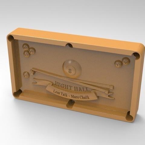 8pool.48.jpg Download STL file 8 ball pool • 3D printable template, Mooos