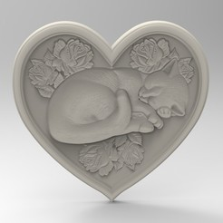 3D printing model cat of love, engmoos