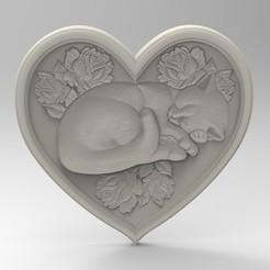 3D printing model cat of love, Mooos