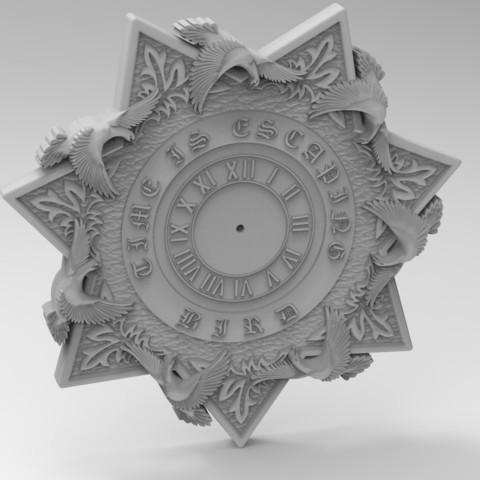 Download 3D printer files star clock, Mooos
