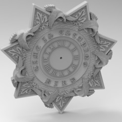 Download 3D printer files star clock, Mooos