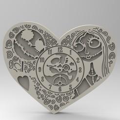 Modelos 3D reloj del amor, engmoos