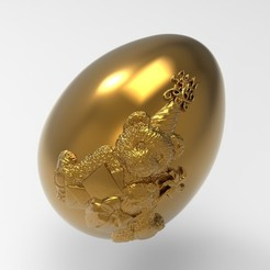 egg-bear.17.jpg Télécharger fichier STL oeuf d'ours de Pâques • Objet à imprimer en 3D, Mooos