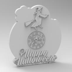 Télécharger fichier 3D horloge d'halloween, Mooos