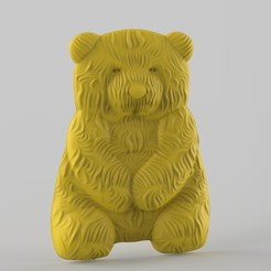 Download 3D printing templates valentine panda bear, Mooos