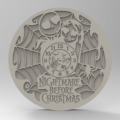 Download STL nightmare christmas clock, Mooos