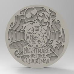 Descargar modelos 3D reloj de pesadilla de navidad, Mooos
