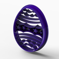 easster.531.jpg Download STL file easter egg cookie cutter • Model to 3D print, Mooos