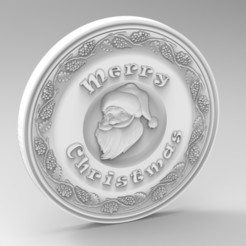 Descargar modelos 3D para imprimir navidad santa panno, Mooos