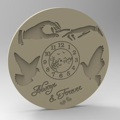 Download 3D printer designs valentine clock 1, Mooos